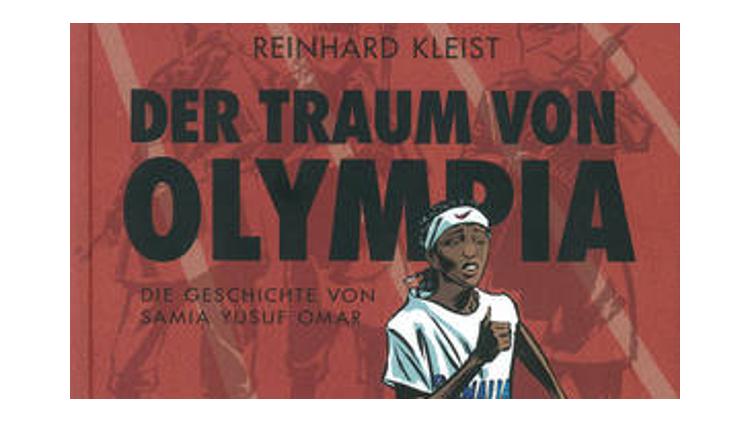 """Titelbild des Buches """"Der Traum von Olympia"""", für den Autor Reinhard Kleist mit dem Katholischen KInder- und Jugendbuchpreis ausgezeichnet wurde"""
