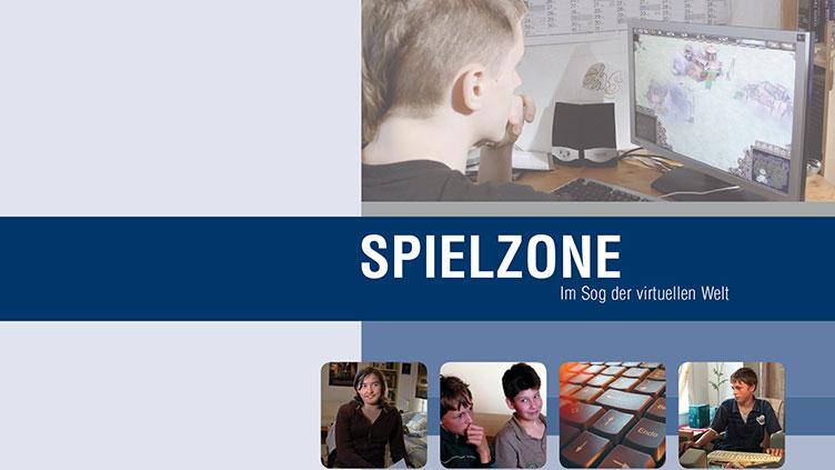 """Coverbild des Films """"Spielzone"""". Darauf ein computerspielender Jugendlicher"""