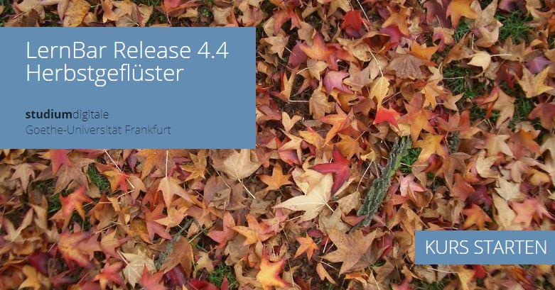 Startbildschirm des LernBar mit Herbstlaub