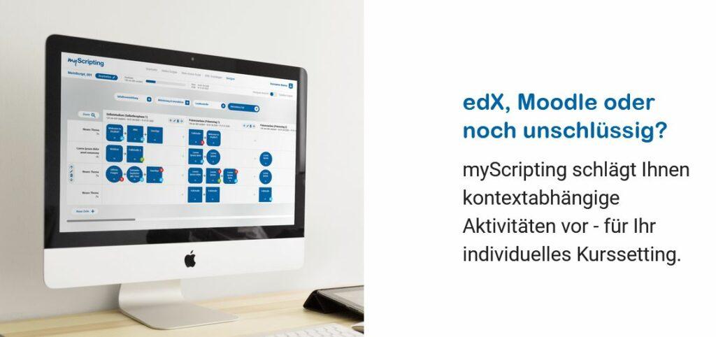 Mac-Bildschirm mit Design und text von myscripting