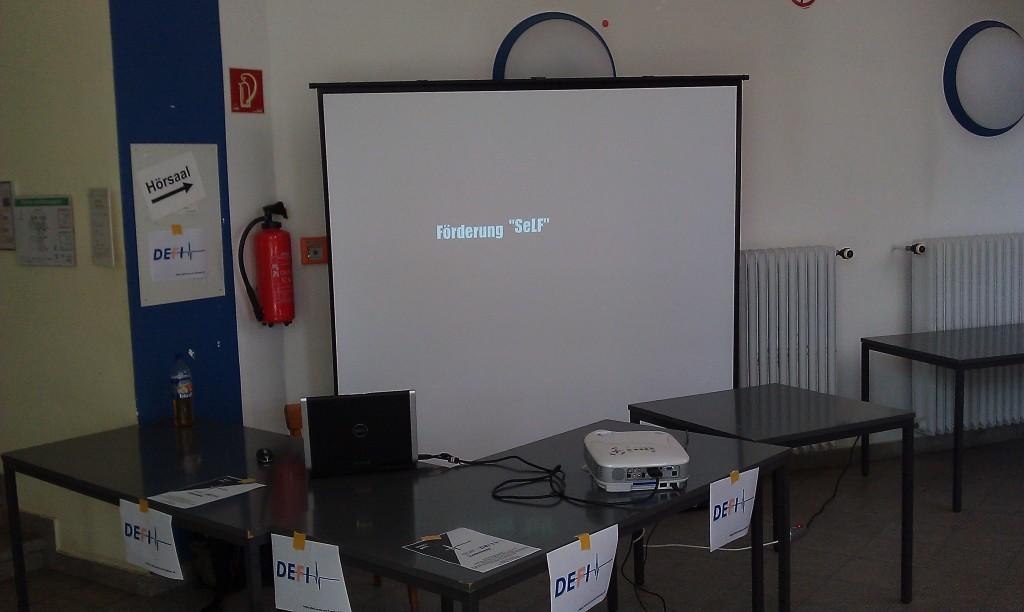 Infotag-Stand des DEFI-Teams 2011