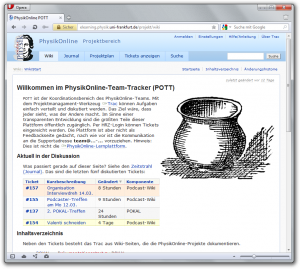 Startseite des PhysikOnline-POTTs