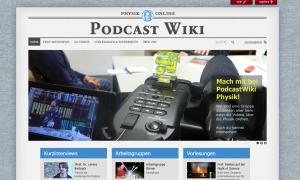 Screenshot der Website von Podcast-Wiki-Physik