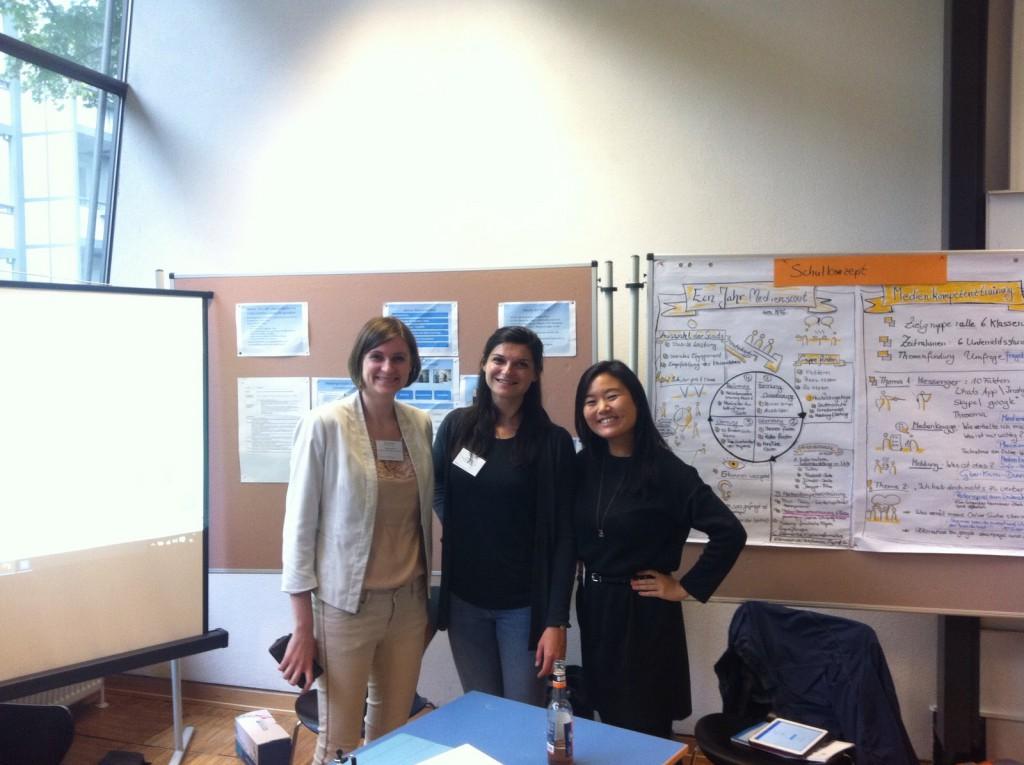 Lehrkräfte im Vorbereitungsdienst: v.l. Marianne Fehn, Violetta Fehn, Yingying Liu