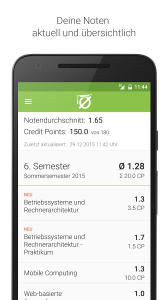 MyGrades-Screenshot vom Android-Appstore